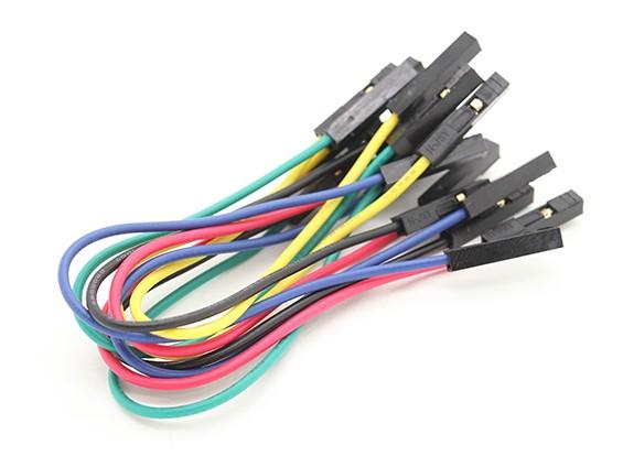 Buchse auf Buchse Single Wire Jumper Führung 25AWG 125mm (10 Stück)