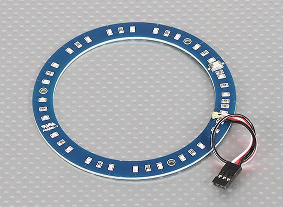 LED-Ring 100mm Blau w / 10 wählbare Modi