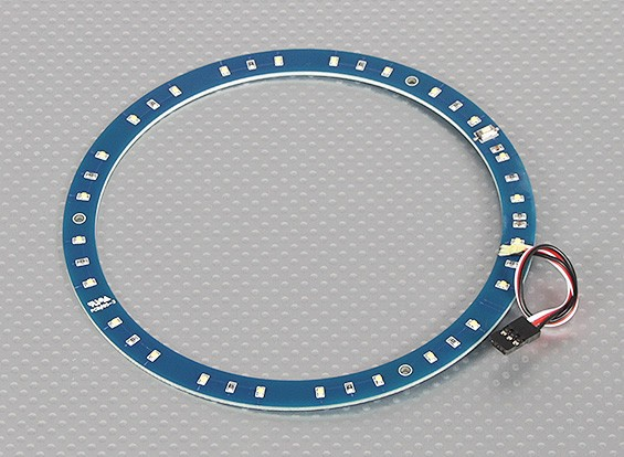 LED-Ring 145mm Weiß m / 10 wählbare Modi