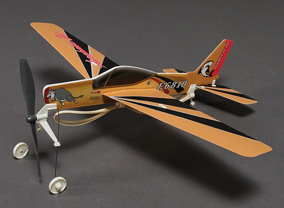 SF. 260 Rubber Band Powered Freeflight Modell 480mm Span