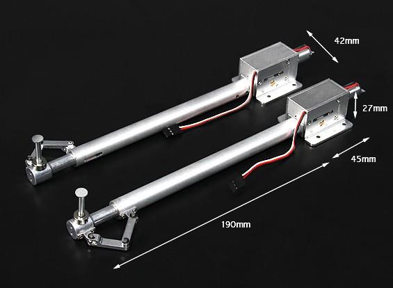 Turnigy Full Metal Servoless Einziehfahrwerk mit 190mm Oleo Beine (Paar)