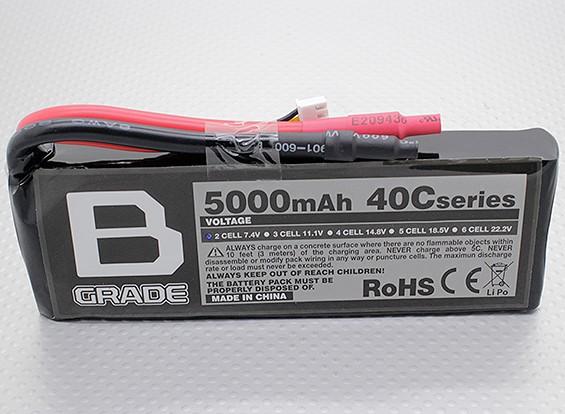 B-Grade 5000mAh 2S 40C Lipo Akku