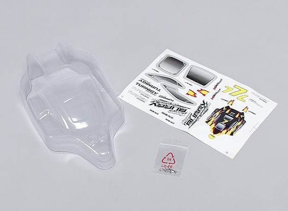 Clear Body Shell 16.01 Turnigy 4WD Nitro Racing Buggy