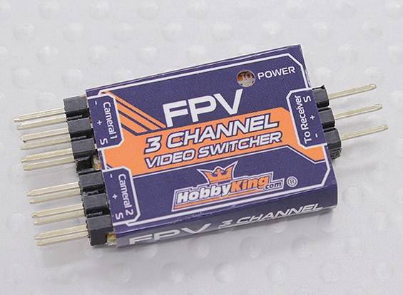 Hobbyking 3-Kanal FPV Video Switcher