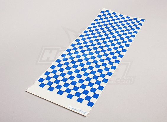 Decal Sheet Kleine Riffel Muster-Blau / Clear 590mmx180mm