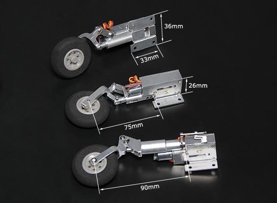 Turnigy Full Metal Servoless Retracts mit Oleo Beine (Tricycle, BAE Hawk-Typ)