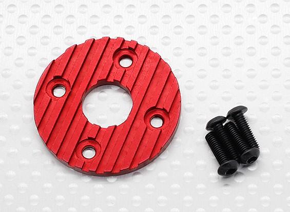 Aluminium CNC Motor-Kühlplatte 36mm (rot)