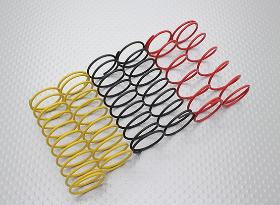 Front Shock Federn Schwarz / Gelb / Rot (2 Stück je Farbe) - A2038 & A3015
