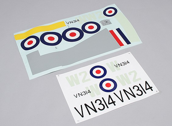 Durafly ™ Spitfire Mk 24 - Ersatz-Aufkleber