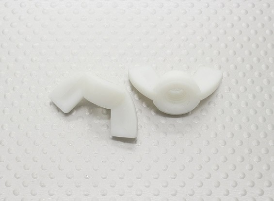 Nylon Flügelmuttern M8 - 2St