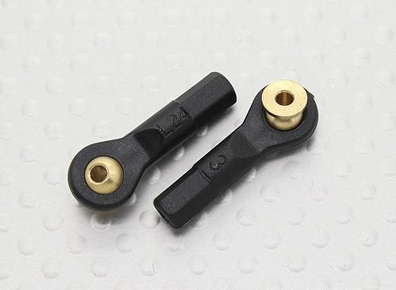 Stand-off Kugelgelenke D4.8 × 2 × L24mm × 2 - 2 Stück