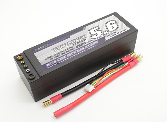 Turnigy 5600mAh 4S 14.8V 60C Hardcase-Pack (Removable Leads)