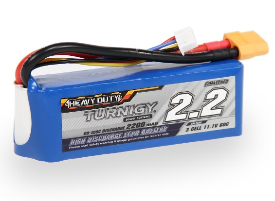 Turnigy Heavy Duty 2200mAh 3S 60C Lipo-Pack