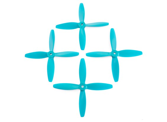 5x4inches 4-Blatt-Blau