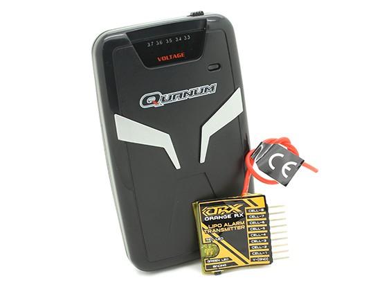 Quanum Taschen Vibration Telemetry Voltage Meter mit Alarm (869.5Mhz FM)