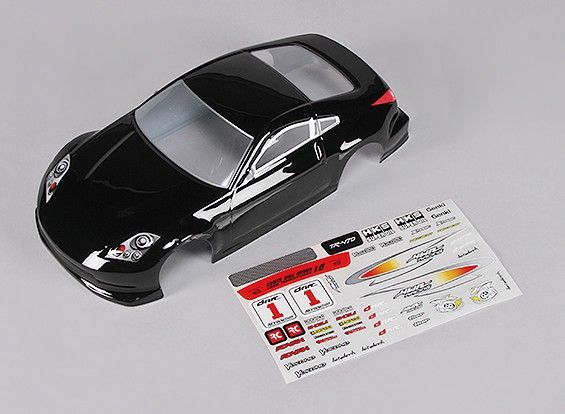 Sport Car Body w / Aufkleber (schwarz) - Turnigy TR-V7 1/16 Brushless Drift Car w / Carbon-Chassis