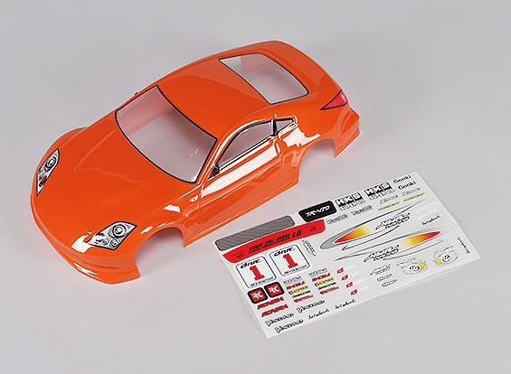 Sport Car Body w / Aufkleber (orange) - Turnigy TR-V7 1/16 Brushless Drift Car w / Carbon-Chassis