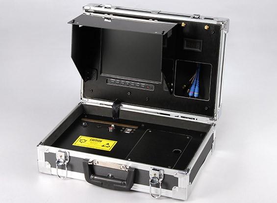 8-Zoll 800 x 600 FPV Bodenstation mit Monitor und Spannungsanzeige Quanum
