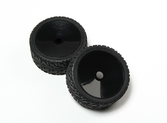 HobbyKing® 1/8 Rally Dish Schwarz Rad & On-Road-Reifen 17mm Hex (2pc)