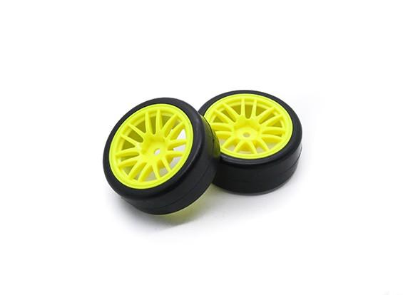 Hobbyking 1/10 Rad / Reifen-Set Y-Speichen (Gelb) RC Car 26mm (2 Stück)