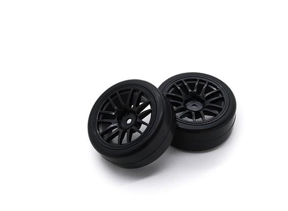 Hobbyking 1/10 Rad / Reifen-Set Y-Speichen (schwarz) RC Car 26mm (2 Stück)