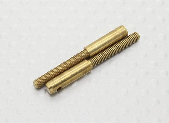 Pull-Pull / 3mm Gabelkopf Quick Link Kupplungen - 32mm Länge