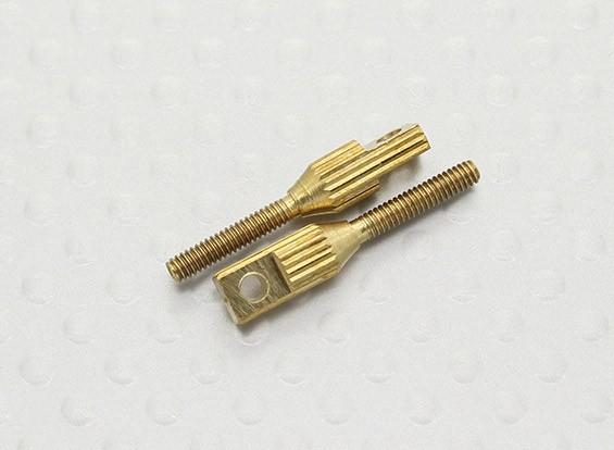 Pull-Pull / 2mm Gabelkopf Quick Link Kupplungen - 20mm Länge