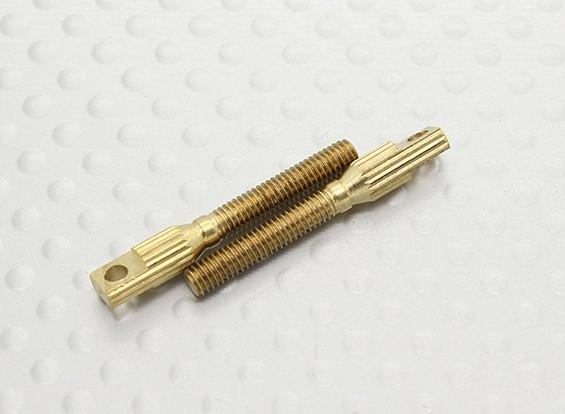 Pull-Pull / 3mm Gabelkopf Quick Link Kupplungen - 26mm Länge