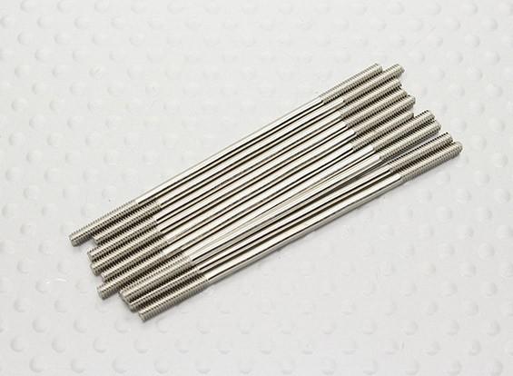 M2 x 55mm Stahlschubstange (10 Stück)