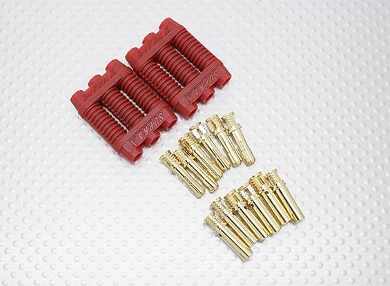 4mm RCPROPLUS Supra X Gold-Kugel-Anschlussblock für Motor / ESC (2 Einheiten)