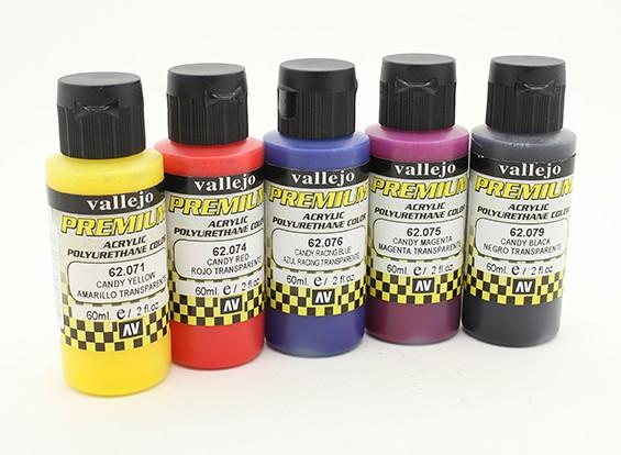 Vallejo Premium-Farbe Acrylfarbe - Candy Farbauswahl (5 x 60 ml)
