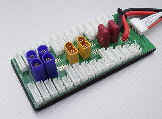 Hobbyking Parallel Ladeplatine für 6 Packs 2 ~ 6S (XT60 / EG5 / T-Connector)