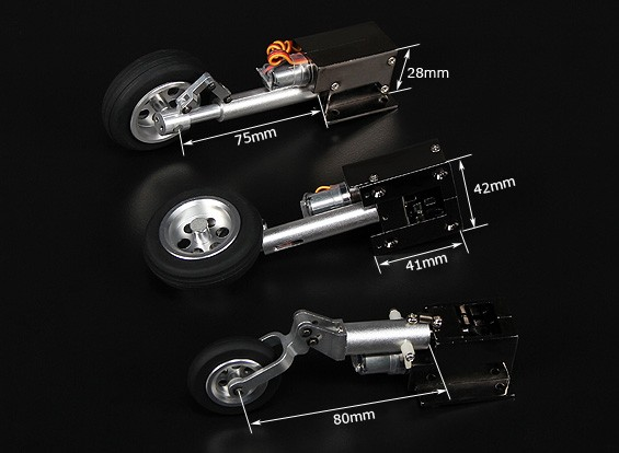 Turnigy Deluxe Full Metal Injection Alloy Servoless Retract (Tricycle) F9F8 Cougar