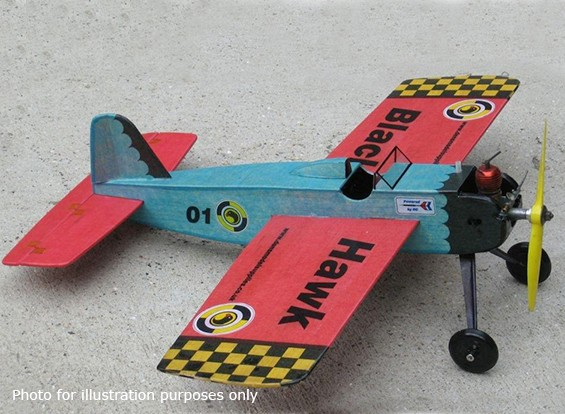 Black Hawk Modelle Stunt Trainer Kontrolllinie Balsa 457mm (Kit)