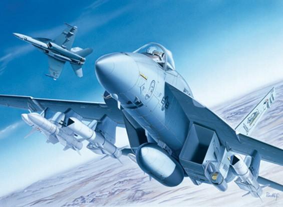Italeri 1:72 F / A-18E Super Hornet Plastikmodellbausatz