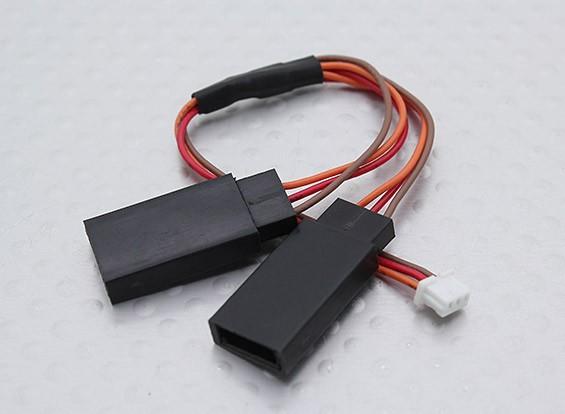 JST (Molex) 1,0 mm Stecker auf 2 x JR weiblich (1pc)