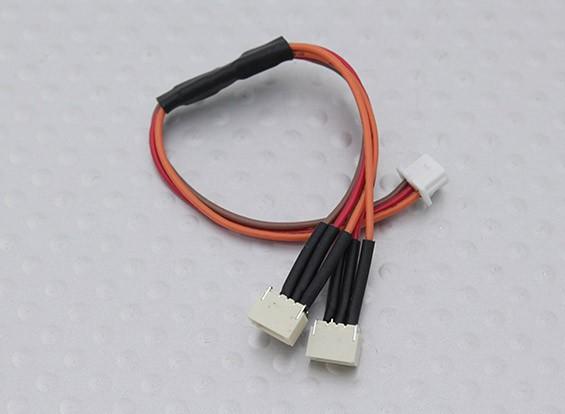 105mm Männlich Molex 1,25 bis Twin Female JST-SH 1,0mm Y Blei