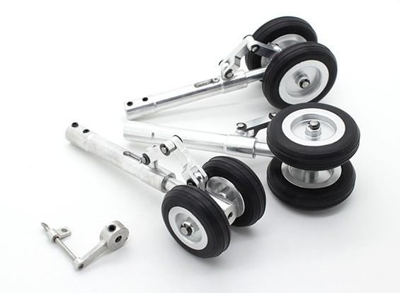 Alloy Oleo Strut Set mit Anti-Rotation-Link und Räder 3mm Pin (Trike)