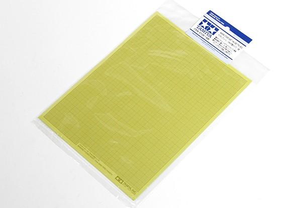 Tamiya Masking-Aufkleber-Blatt 1 mm Raster Typ (5 Stück)