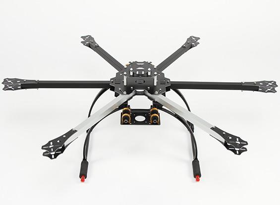 Hobbyking 650X6 Folding Hexacopter Rahmen mit Hoch Crab Fahrwerk (KIT)