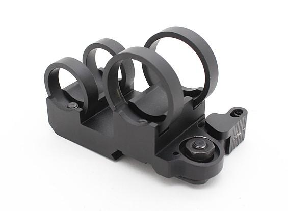 Element EX302 LR Tactical Double Stack Taschenlampen-Einfassung (Schwarz)