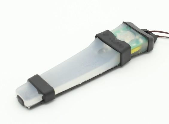 FMA Velcro Sicherheits-Licht mit schwarzem Tablett (Grün)