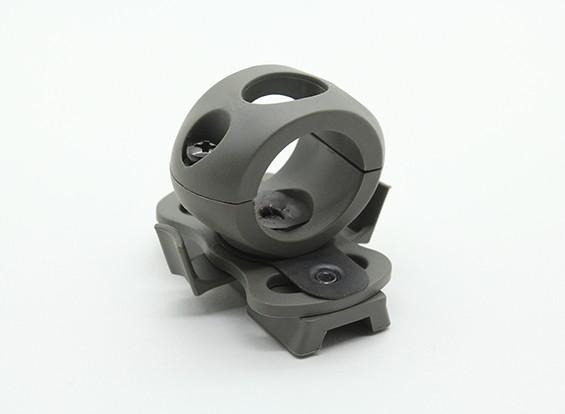 FMA 20mm Taschenlampe Halterung für Railed Helm (Foliage Green)