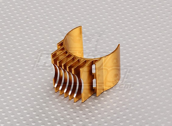 Gold-Aluminium-Motor Heat Sink 540/550/560 (36mm)
