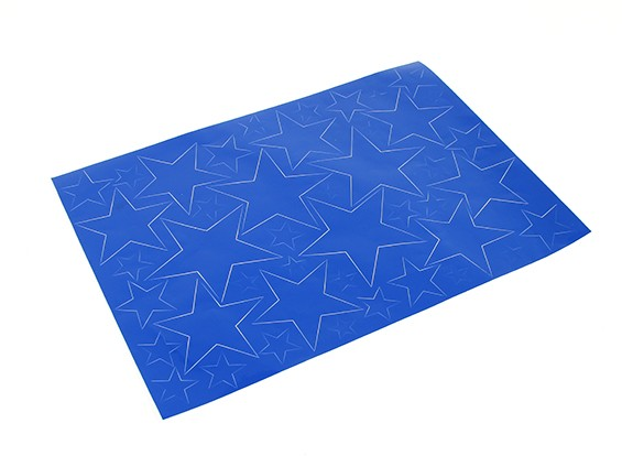 Star Pattern Self Adhesive Aufkleber-Set 420 x 300 mm (blau) (1pc)