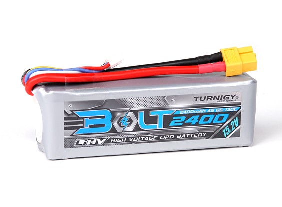 Turnigy Bolt 2400mAh 4S 15.2V 65 ~ 130C High Voltage Lipo-Pack (LiHV)
