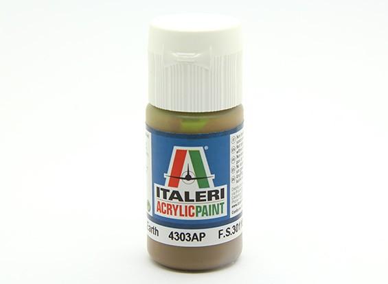 Italeri Acrylfarbe - Flache Dark Earth