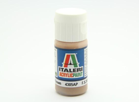 Italeri Acrylfarbe - Flat Light Brown
