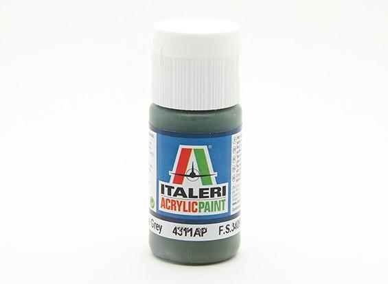 Italeri Acrylfarbe - Flach Dunkel Schiefergrau