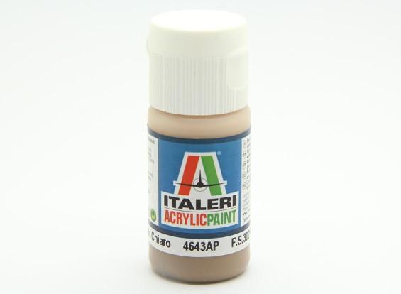 Italeri Acrylfarbe - Flache Nocciola Chiaro